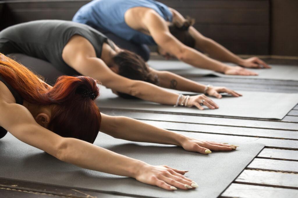 Gemeinsam Yoga üben